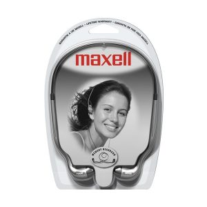 Maxell HB-202 3.5mm Earbud Stereo Headphones (Silver)