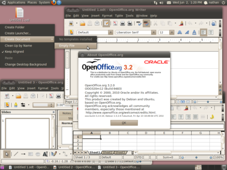 Ubuntu 10 with OpenOffice