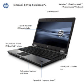 HP EliteBook 8440p Datasheet – buy used HP EliteBooks in Canada