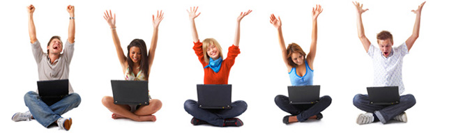Students excited about back to school computer deals 2014