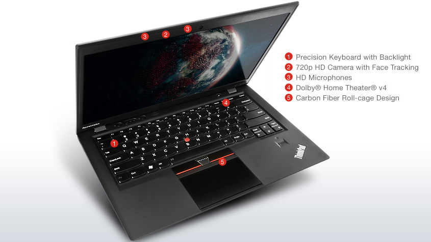LENOVO X1 CARBON 3460 (i5-3367U 1 8GHZ, 8GB DDR3, 128 SSD)
